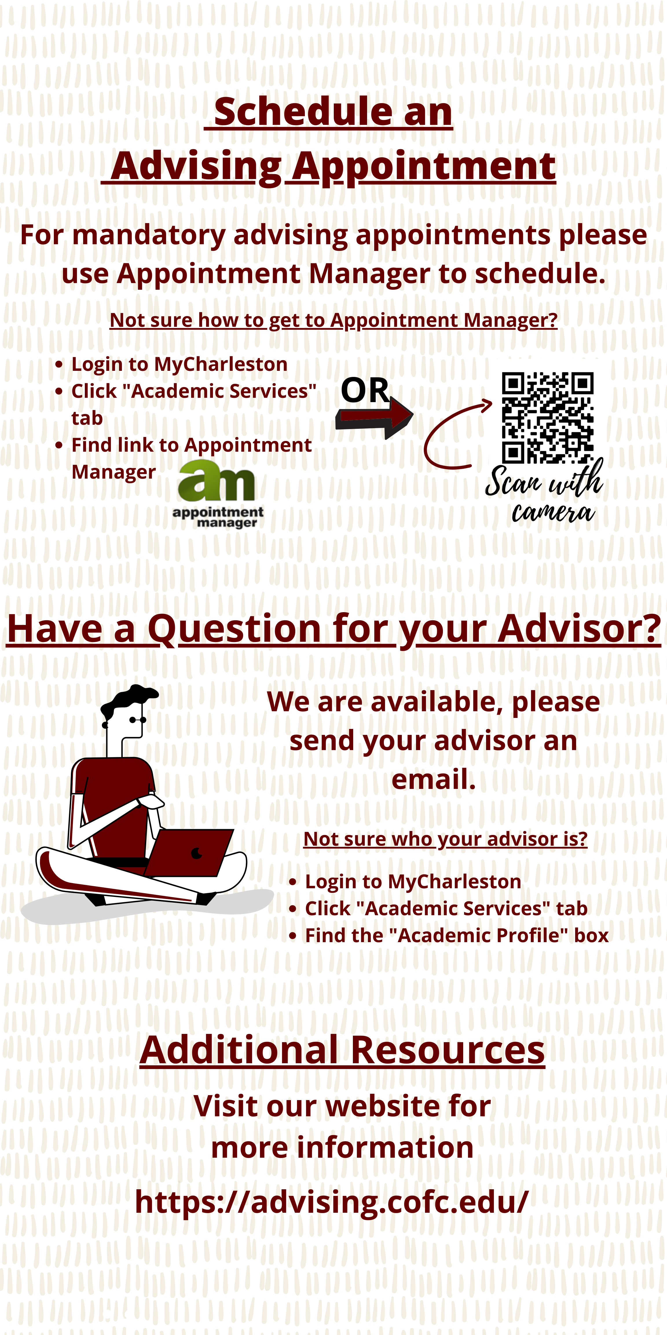 Instructions for contacting the Academic Advising and Planning Center.